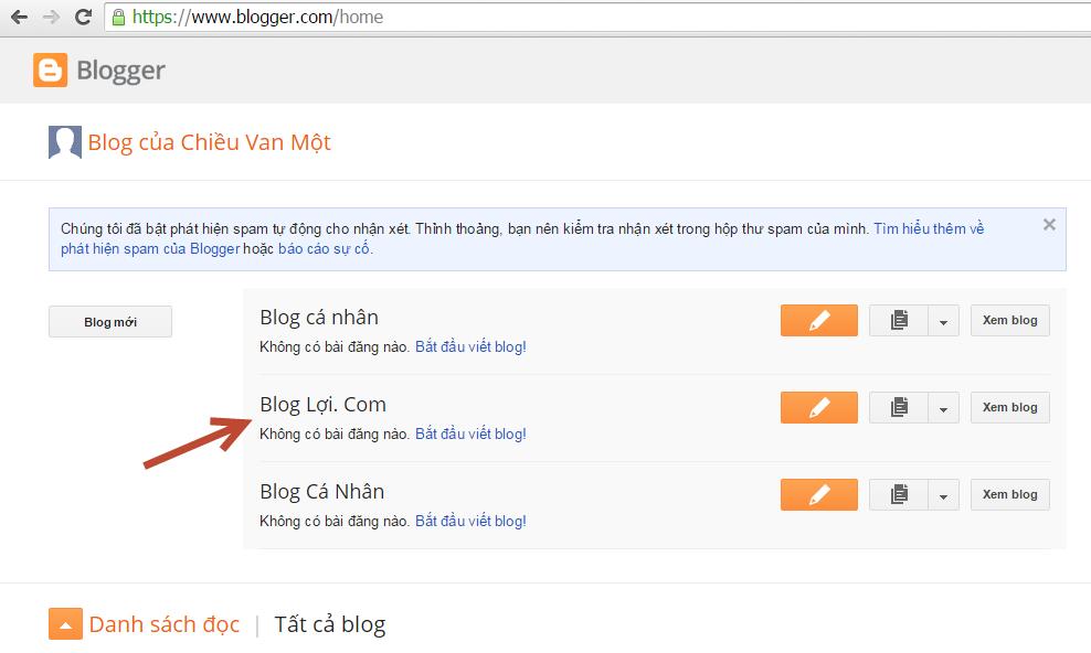 Cách đăng bài viết trong Blogspot