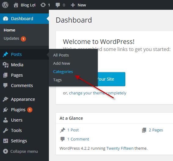 category và tag trong wordpress