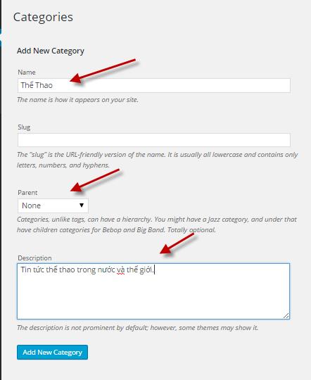 category và tag trong wordpress 01