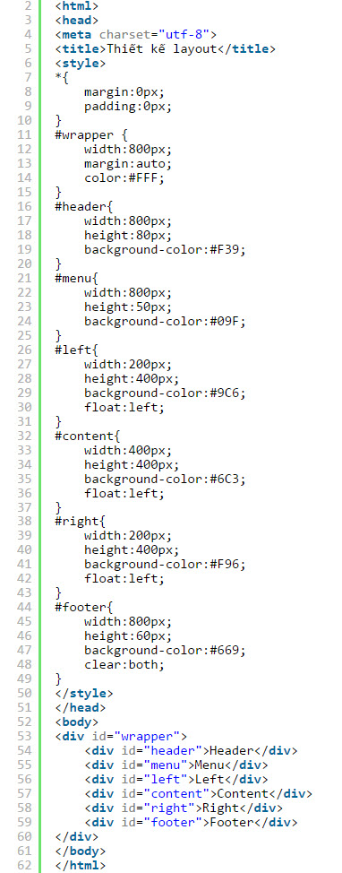 Thiết kế layout web bằng css 0199