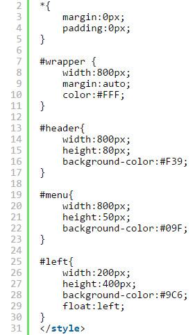 Thiết kế layout web bằng css 009