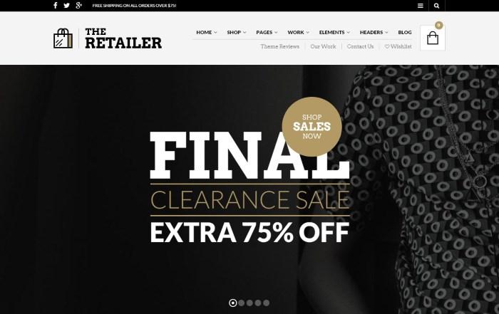 Theme wordpress bán hàng The Retailer