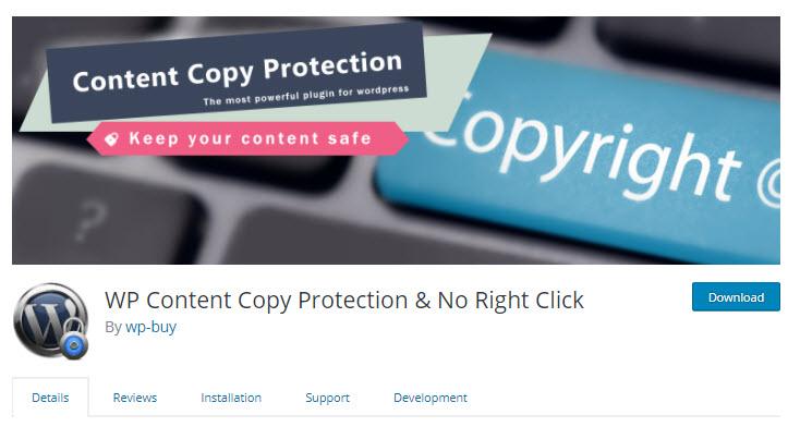 plugin chống copy nội dung cho wordpress