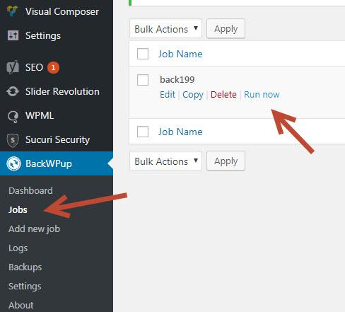 Hướng dẫn sử dụng Plugin WP Backup