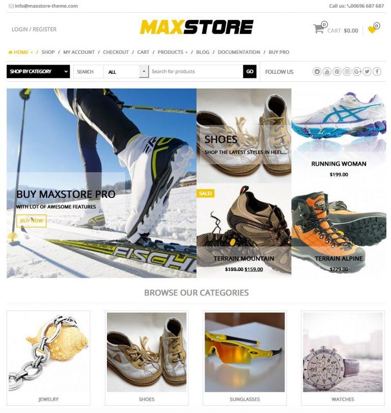 theme wordpress bán hàng miễn phí MaxStore
