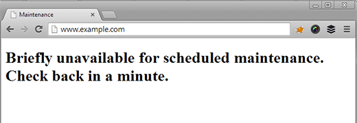 lỗi Briefly Unavailable for Scheduled Maintenance trong WordPress