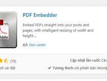 Cách nhúng file pdf vào wordpress