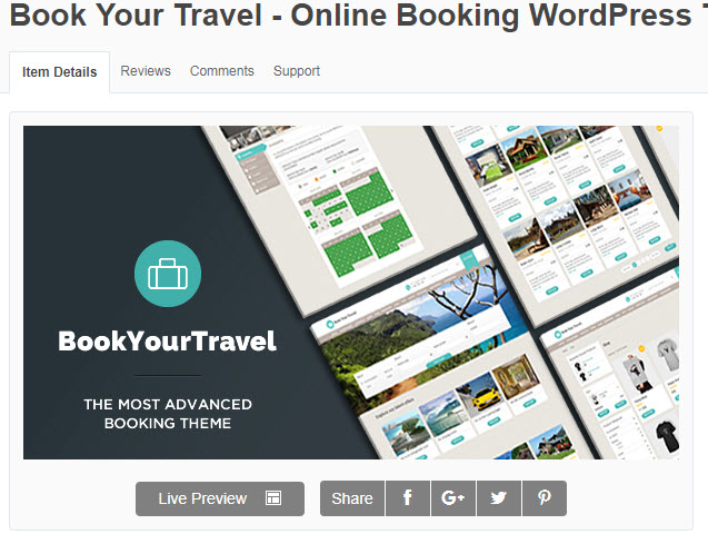 theme wordpress du lịch Book Your Travel