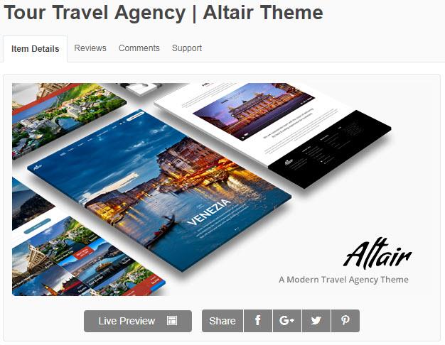theme wordpress du lịch Tour Travel Agency