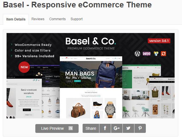 Theme WordPress về nội thất basel