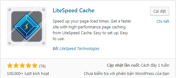 hướng dẫn cài đặt litespeed cache