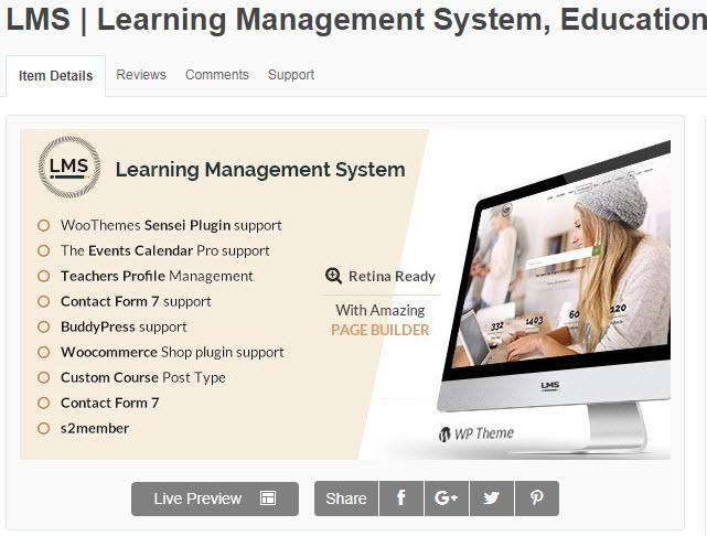 theme wordpress học online LMS Learning