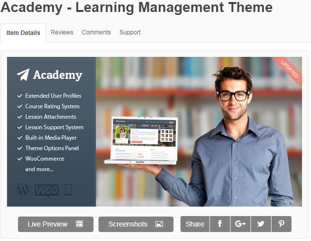 theme wordpress trung tâm đào tạo Academy