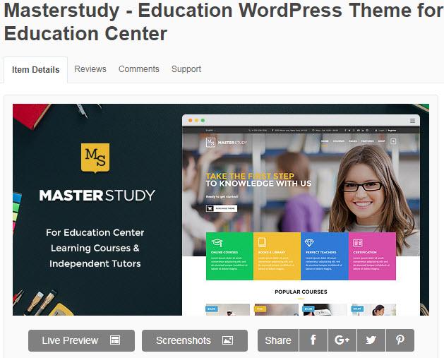 theme wordpress trung tâm ngoại ngữ Masterstudy