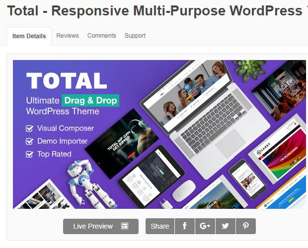 theme wordpress total