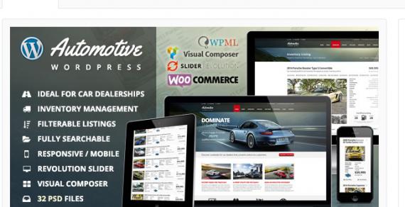 5 Theme WordPress dành cho lĩnh vực Ô TÔ HOT nhất