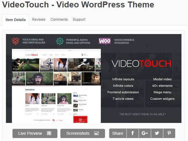theme wordpress làm web video miễn phí