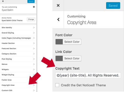 Cách để xóa Powered by WordPress chân trang website