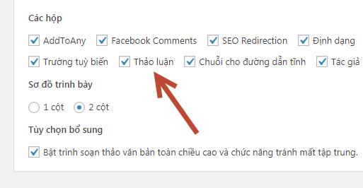 cách tắt chức năng comment trong wordpress
