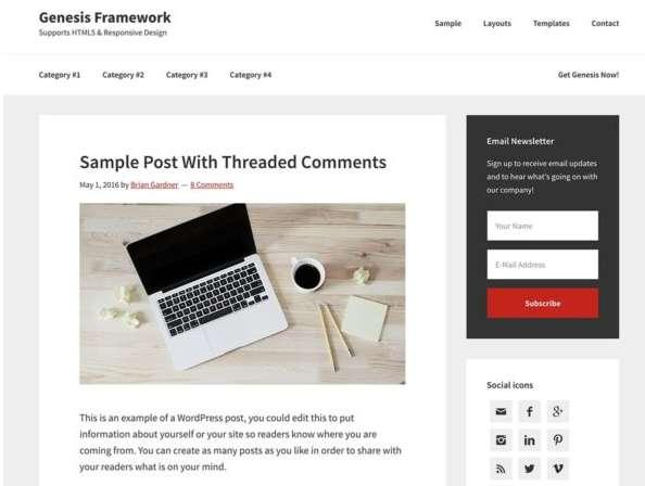 theme wordpress Genesis framework