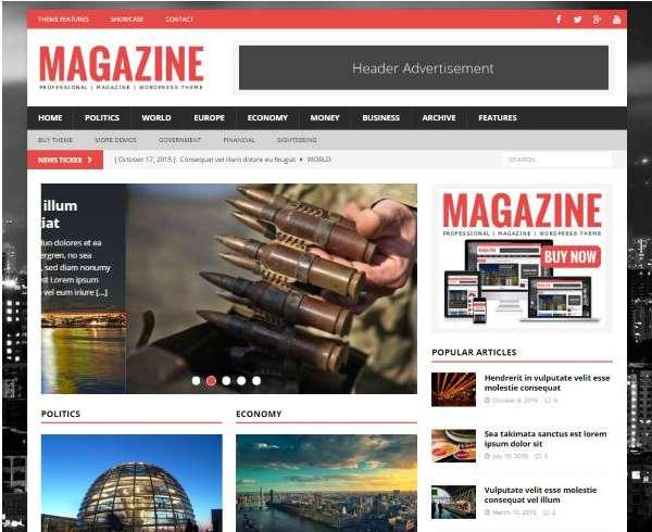 theme wordpress chuẩn seo MH Magazine