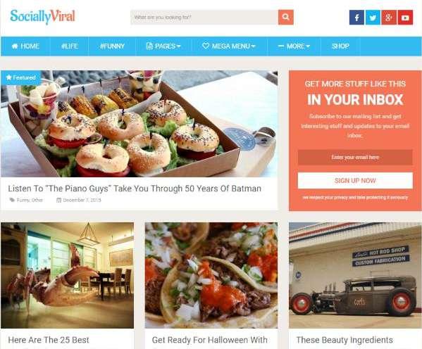theme wordpress Socially Viral