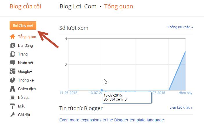 Cách đăng bài viết trong Blogspot 2