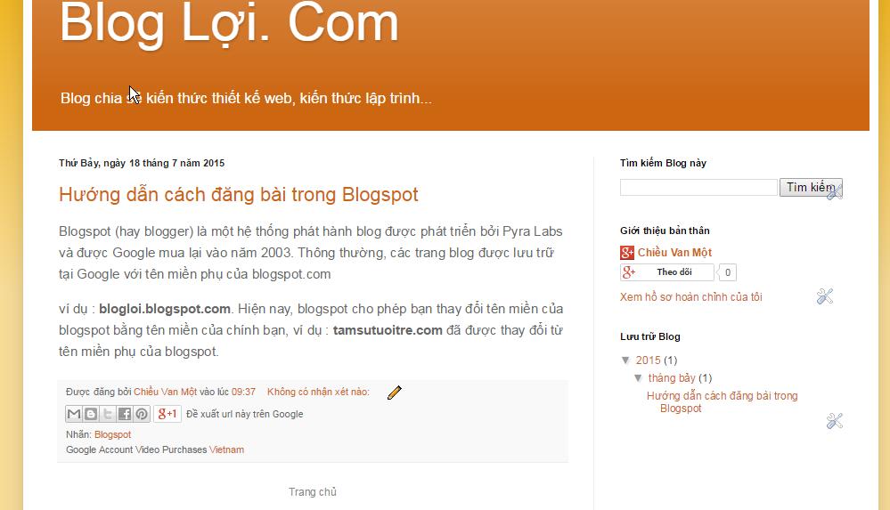 Cách đăng bài viết trong Blogspot 06