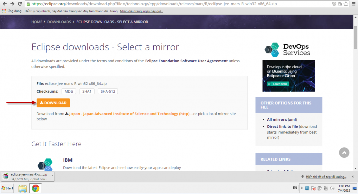 Cài đặt JDK và Eclipse 08