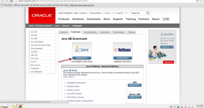Cài đặt JDK và Eclipse 01
