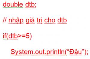 Câu lệnh điều kiện trong lập trình Java 02