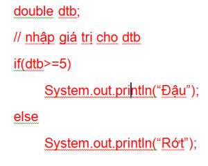 Câu lệnh điều kiện trong Java 04
