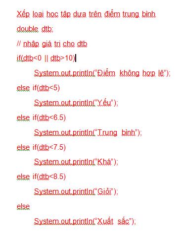 Câu lệnh điều kiện trong Java 06