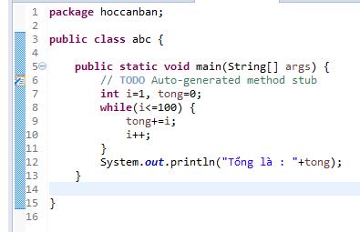 Câu lệnh lặp trong lập trình java 02