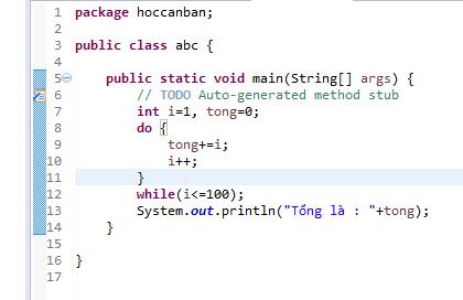 Câu lệnh lặp trong lập trình java 04