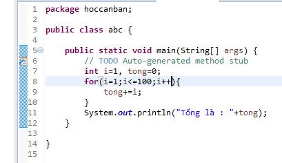 Câu lệnh lặp trong lập trình java 06