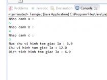 Tính chu vi và diện tích hình tam giác trong Java