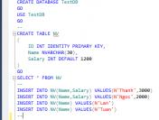 Khái niệm và cách tạo cơ sở dữ liệu SQL Server