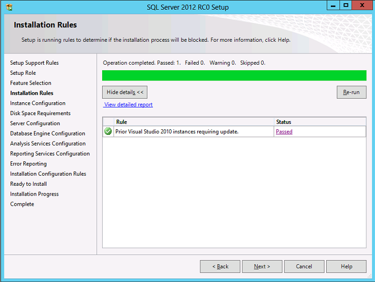 Cài đặt SQL Server 2012 09