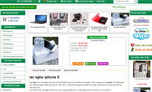 Template blogspot bán hàng free 01