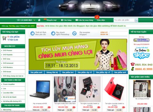 Template blogspot bán hàng free