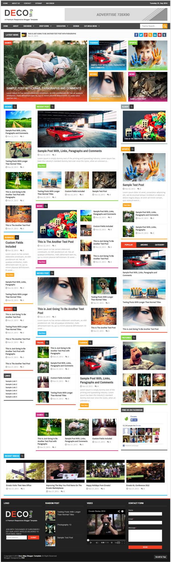 Share Template Blogspot Deco Mag Magazine 001