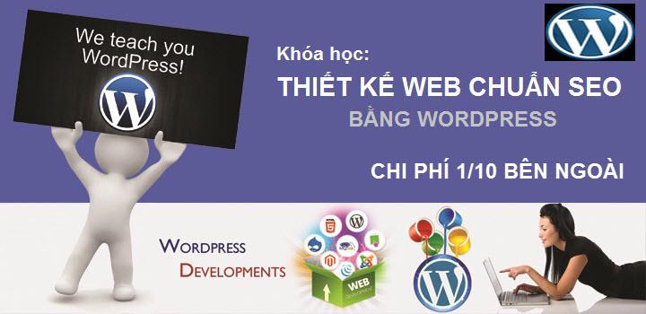 thiết kế web bằng wordpress
