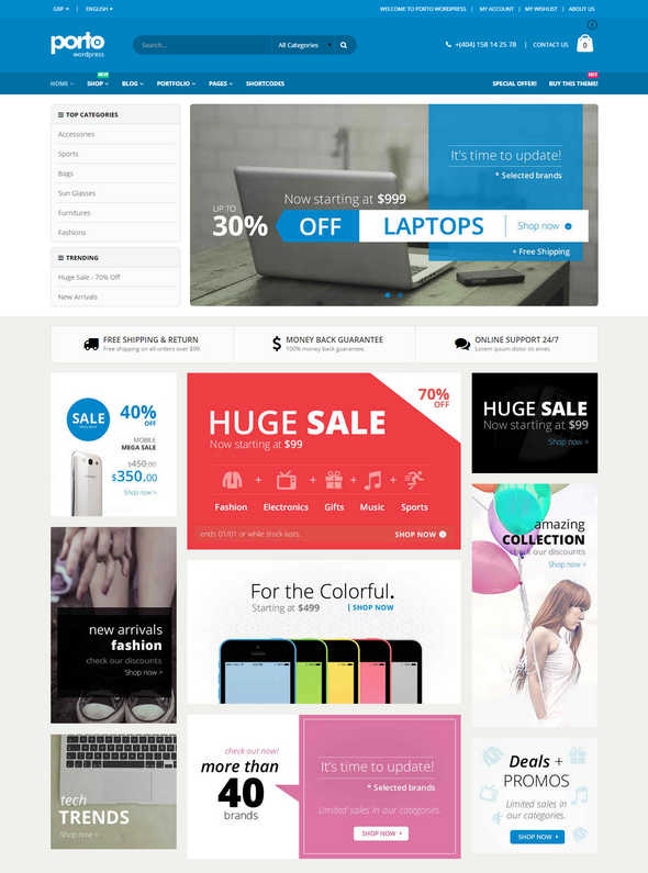Top 10 Theme WordPress Woocommerce 2015 03