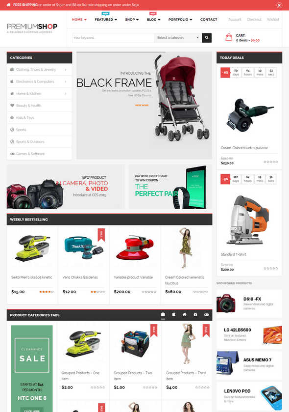 Top 10 Theme WordPress Woocommerce 2015 04