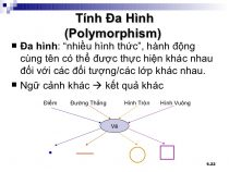 Tính đa hình trong lập trình hướng đối tượng Java (polymorphism)