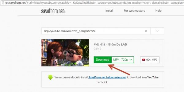 Download video trên youtube không cần phần mềm 002