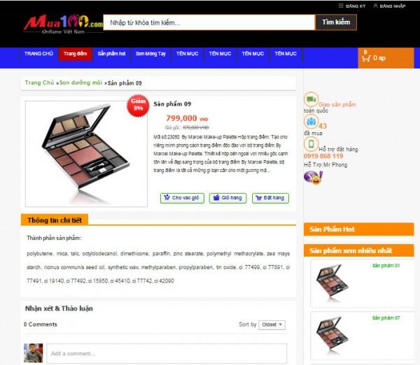Template bán hàng cho blogspot 001