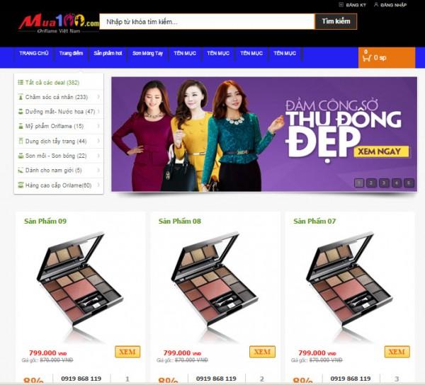 Template bán hàng cho blogspot