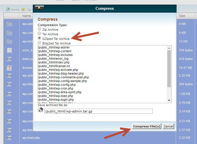 backup dữ liệu wordpress